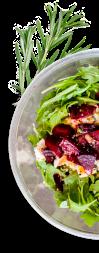 зеленый салат с оливками