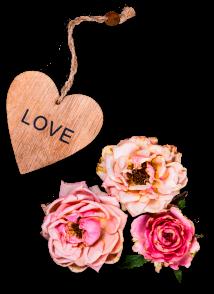 цветы и брелок love